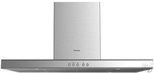 Thermador Masterpiece Series HPIBxxHS Island Mount Chimney Range Hood with 600 CFM Internal Blower, 3-Speed Fan, 4 Halogen Lights w/ Dimmer, Dishwasher-Safe Frameless Filters and Convertible to Recirculating
