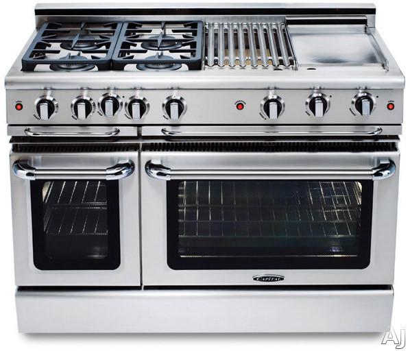 Capital gcr486g 48 pro style gas range with 6 power flo for Viking wok burner