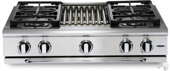 Capital Precision Series Grt364w 36 Inch Pro-style Gas Rangetop With 4 Power-flo Sealed Burners W/ Simmer, 30,000 Btu Power-wok, Full Extension Drip Tray On Ez-glides And Auto-ignition/re-ignition (not Exact Image)