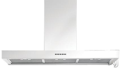 Futuro Futuro Minimal White Series IS36MINIMALWHT 36 Inch Island Chimney Hood with 940 CFM Internal Blower, 4 Speed Electronic Controls, Sound Absorbing Motor Chamber, Delayed Shut Off and 4 Halogen Lights