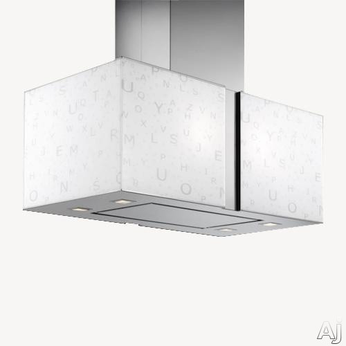 Futuro Futuro Murano Alfa Collection IS34MURALFA 34 Inch Island Mount Chimney Range Hood with 940 CFM Internal Blower, 4-Speed Whisper-Quiet Fan, 4 Halogen Lights, Body Illumination Dimmer and Convertible to Non-Ducted Operation