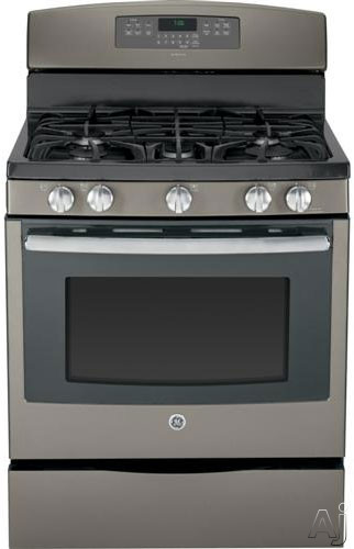 GE Adora Series JGB760DEF 30 Inch Freestanding Gas Range with 5 Sealed Burners 56 cu ft Convection Oven 17 000 BTU Power Boil Burner Precise Simmer Burner Reversible Griddle Grill Storage Drawer and Steam Self Clean