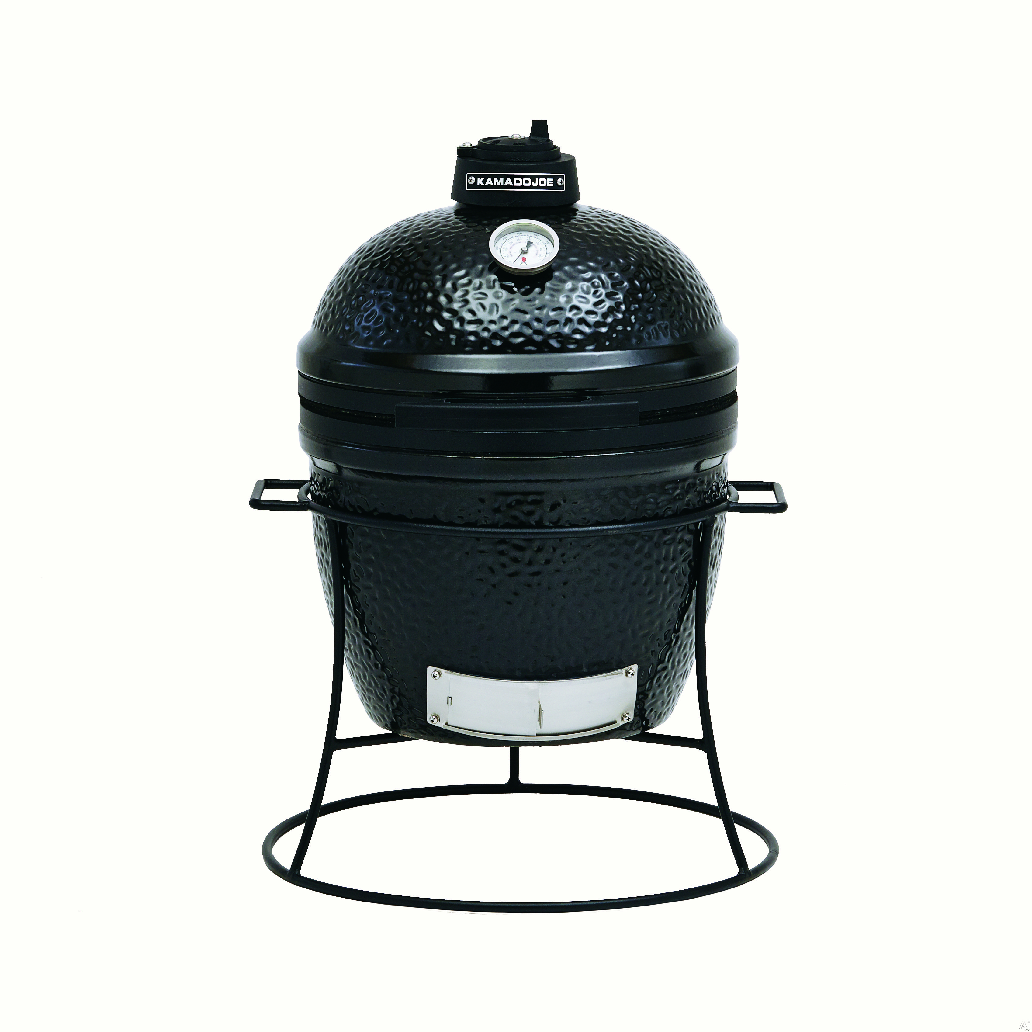 "click for Full Info on this Kamado Joe KJ13BH 13"" Portable Kamado Grill with 148 sq in Cooking Surface  Built in Thermometer  Ceramic Heat Deflector  Grill Gripper and Ash Tool: Black"