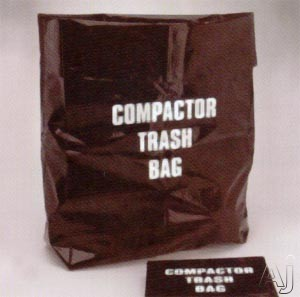 Broan 1006PAK10 High Capacity Trash Compactor Bags 1 Carton  120 Bags