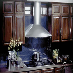 Best KEX27390CMSS Wall Mount Chimney Hood with Multiple Exterior/In-Line Blower Options, 4-Speed Push Button Control, 2 Halogen Lamps and Dishwasher Safe Mesh Filters: 35 7/16-Inches