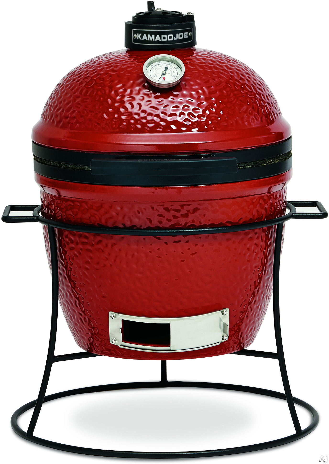 "click for Full Info on this Kamado Joe KJ13RH 13"" Portable Kamado Grill with 148 sq in Cooking Surface  Built in Thermometer  Ceramic Heat Deflector  Grill Gripper and Ash Tool: Red"