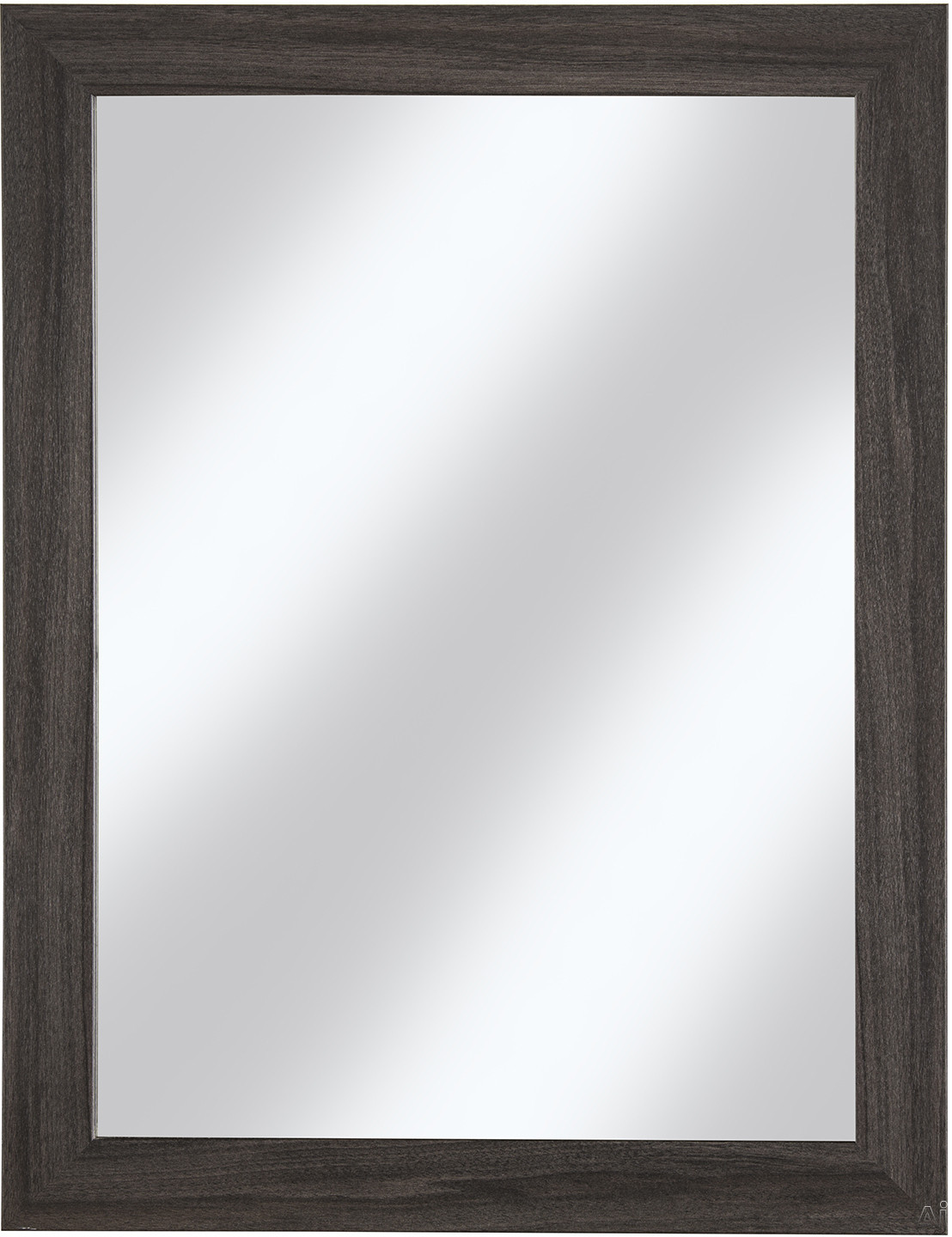 Cutler Kitchen & Bath Ivory FVCHKAMR 23 Inch Surface Mount Shaker Mirror with Shaker Style Frame, Hanging Wire and Made in Canada: Karoo Ash