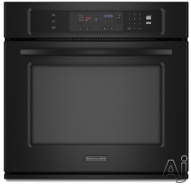 "KitchenAid Architect Series II KEBK101S 30"" Single Electric Thermal Wall Oven With ClearBake Hidden Element True-Broil Reflector Halogen Lighting And Glass-To"