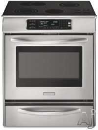 "KitchenAid Architect Series II KESS908S 30"" Slide-In Electric Range with 4 Radiant Elements, U.S. & Canada KESS908S"