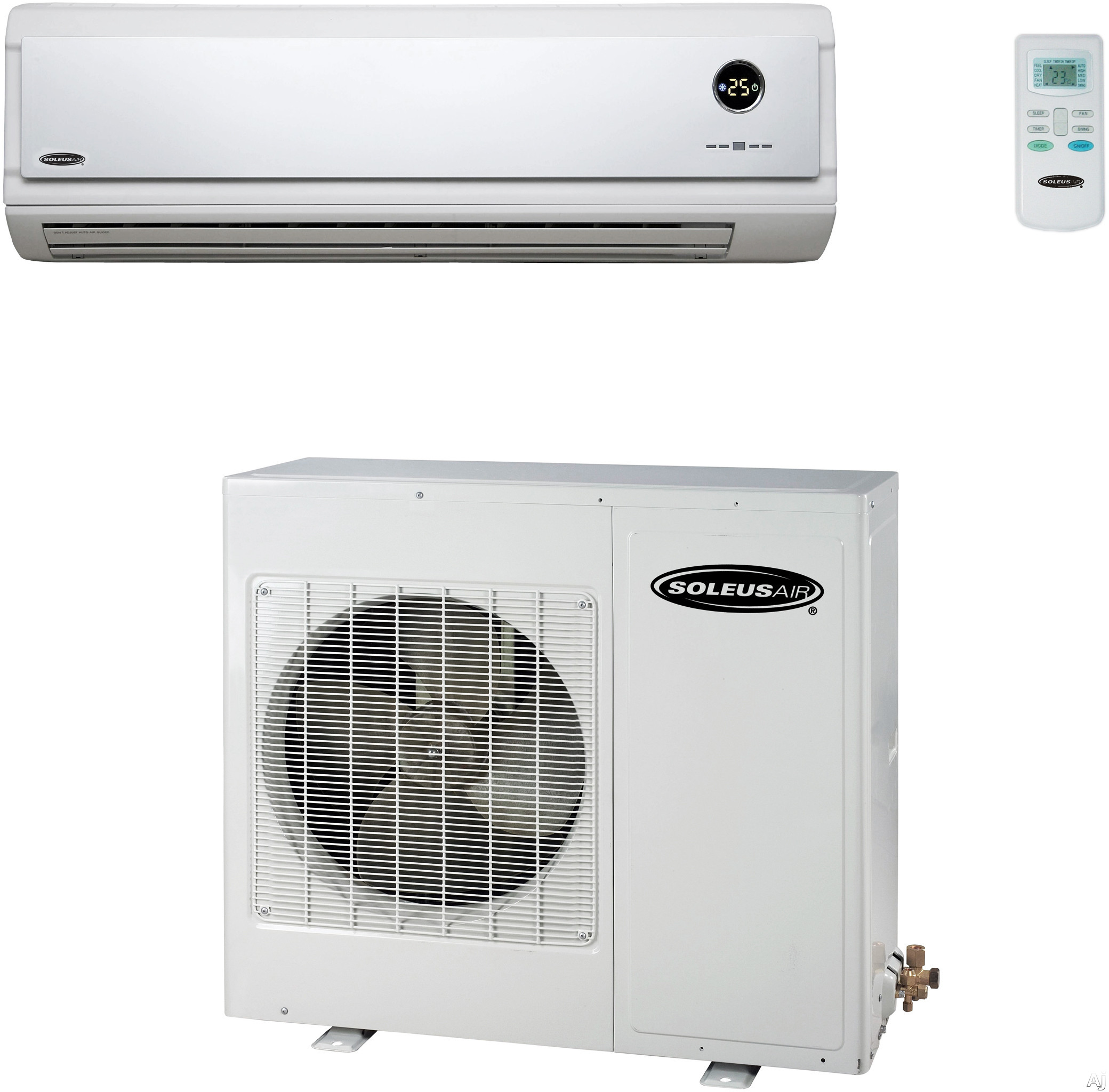 Soleus KFHHP18 18,000 BTU Single Zone Wall-Mounted Cool/Heat Pump Mini Split Air Conditioning System with Inverter Technology, 4 Fan Settings and Wireless Remote Control (KFHHP18ID Indoor / KFHHP18OD Outdoor) KFHHP18