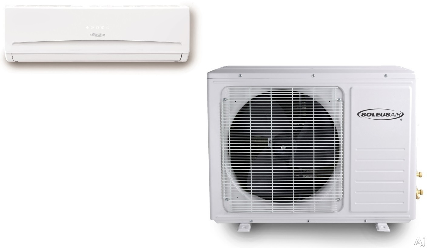 Soleus KFTHP509 9,000 BTU Single Zone Wall-Mount Ductless Split System with 9,000 BTU Heat Pump, 15 SEER, R-410A and Remote Control KFTHP509