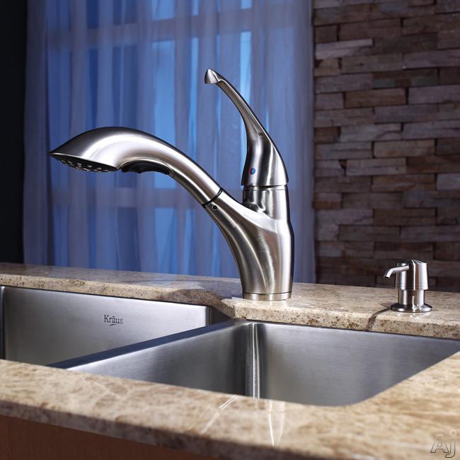 "Kraus Kitchen Combo Series KHU12332KPF2210KSD30SN 32"" Undermount Double Bowl Stainless Steel Sink, U.S. & Canada KHU12332KPF2210KSD30SN"
