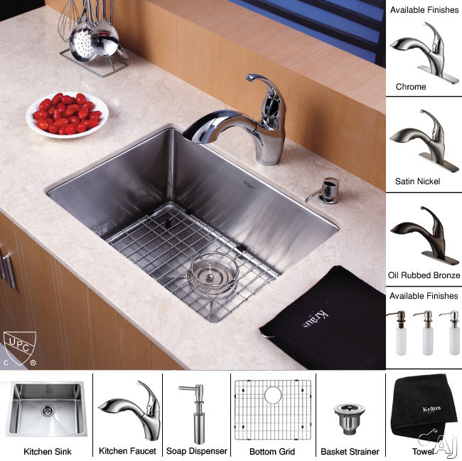 Sink, Accessories, and Finish Options