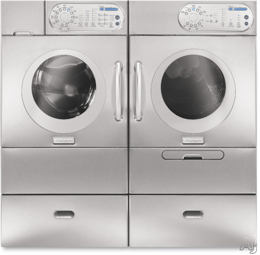 kitchenaid khwv01rss 27 front load washer with 3 8 cu ft