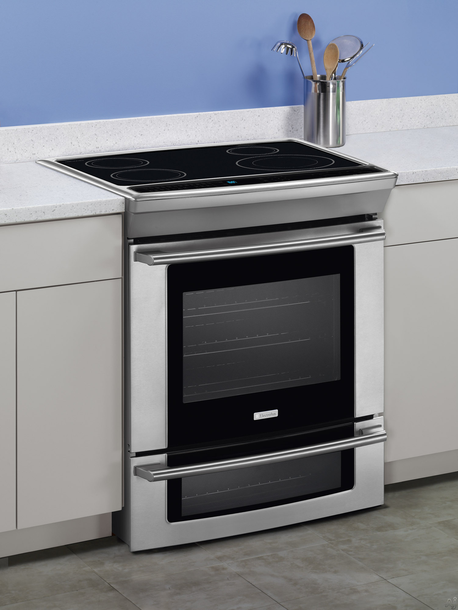 electrolux ew30is65js 30 slide in induction range with 4 2 cu ft self clean convection oven. Black Bedroom Furniture Sets. Home Design Ideas