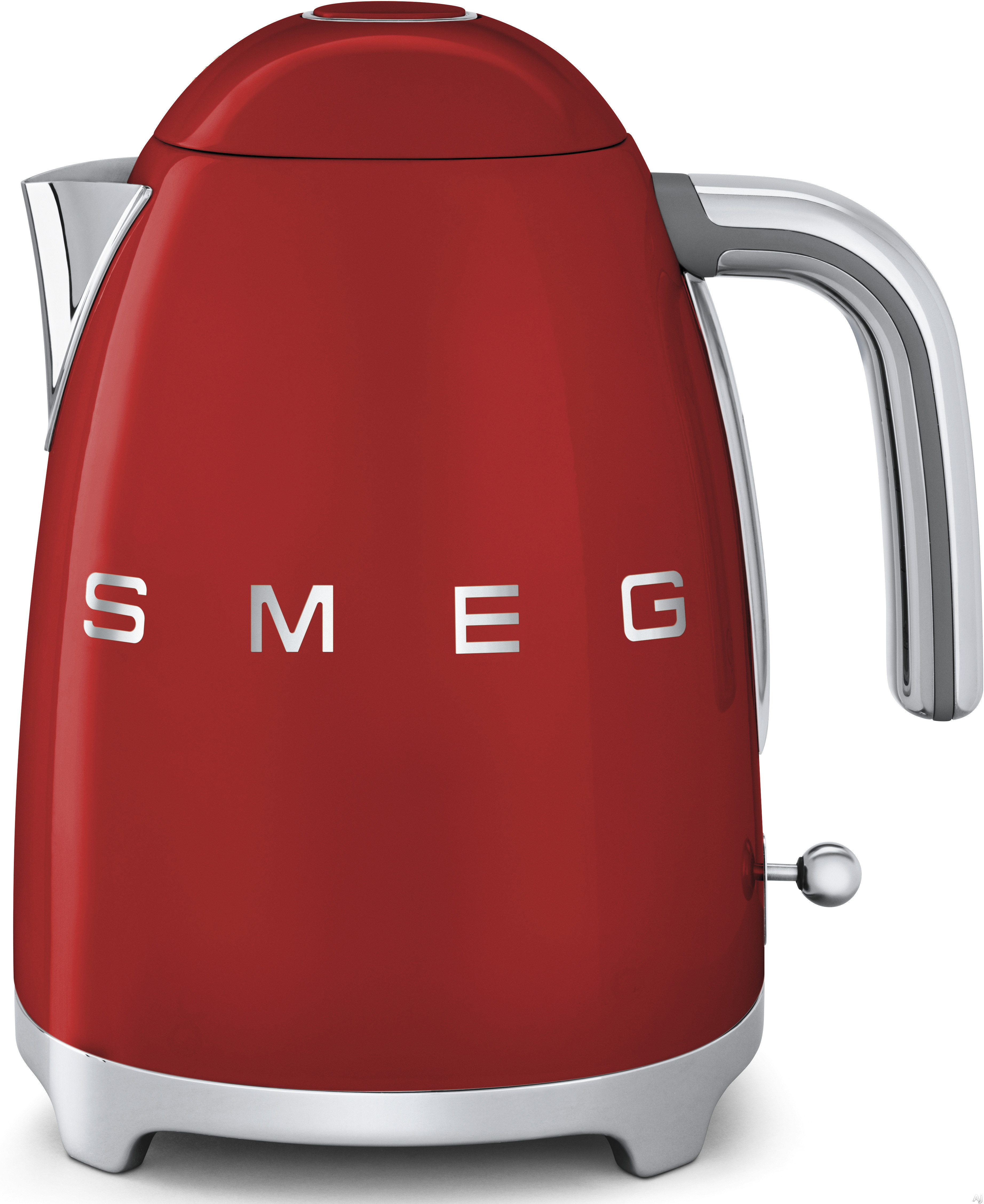 Smeg 50 s Retro Design KLF01RDUS Electric Kettle with 56 oz. Capacity Soft Opening Lid Auto Shut Off 360 Degree Swivel Base Anti Slip Feet and Built in Cord Wrap Red