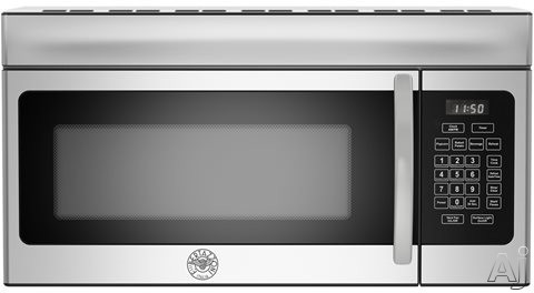 Image of Bertazzoni KOTR30XT 30 Inch Over the Range Convection Microwave Hood with Black Glass Window, 10 Power Levels, Convection Cooking, 1.5 cu. ft. Capacity and 300 CFM