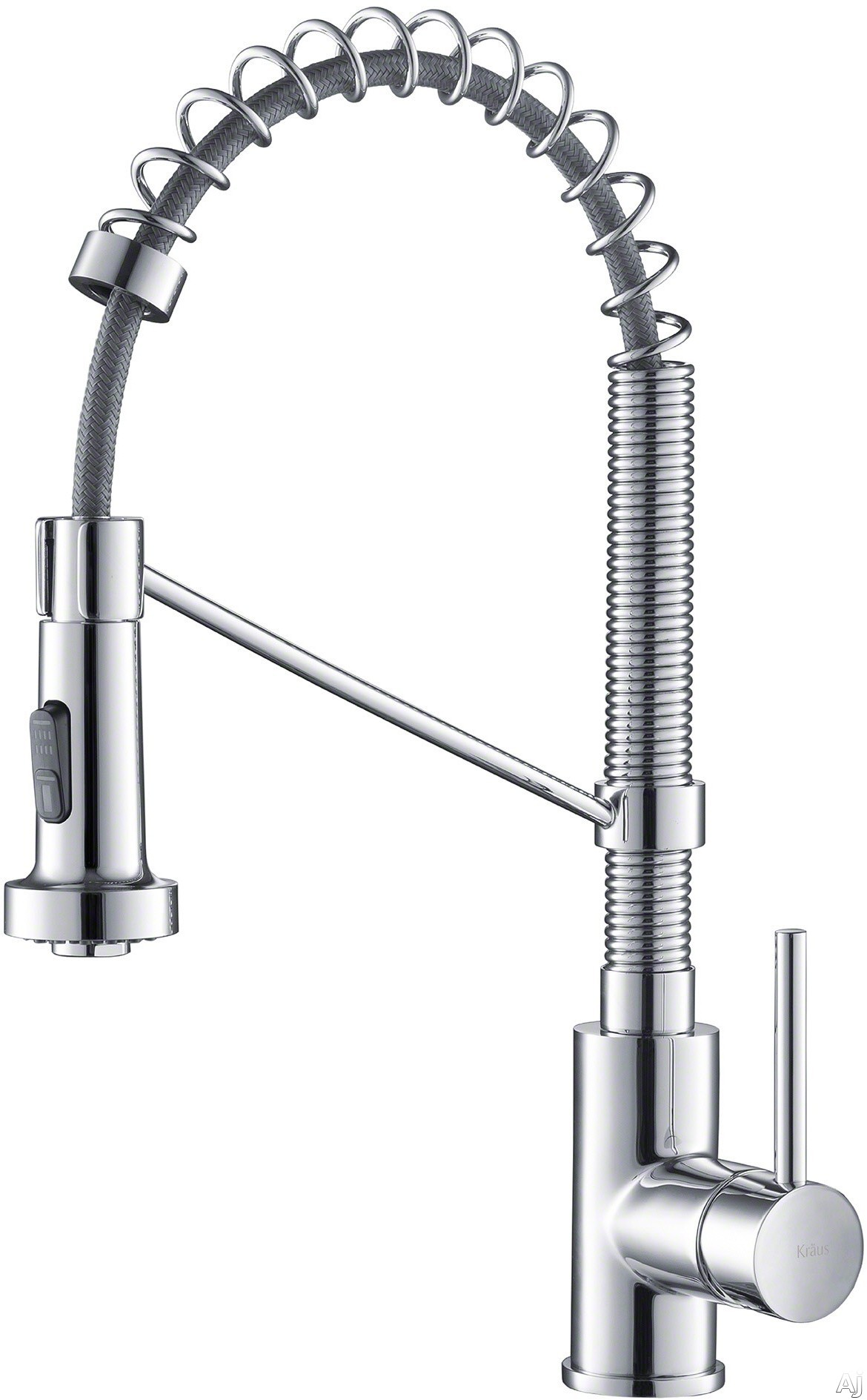 Kraus Bolden Series KPF1610CH Single Handle Commercial Kitchen Faucet with Dual Function Sprayhead, Long-Lasting Performance and Eco-Friendly: Chrome