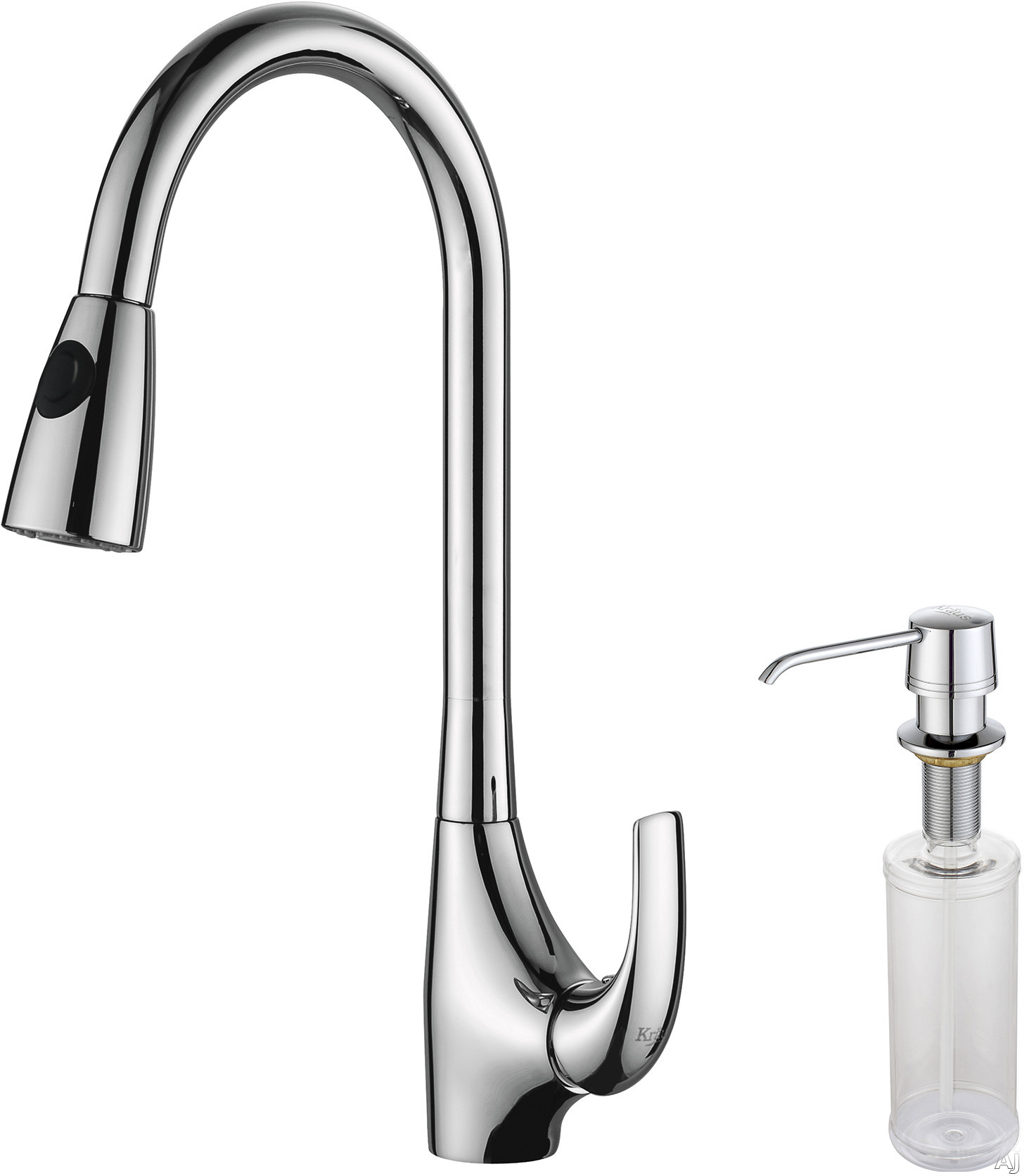 Kraus Kpf1621ksd30ch Single Lever Pull Out Kitchen Faucet