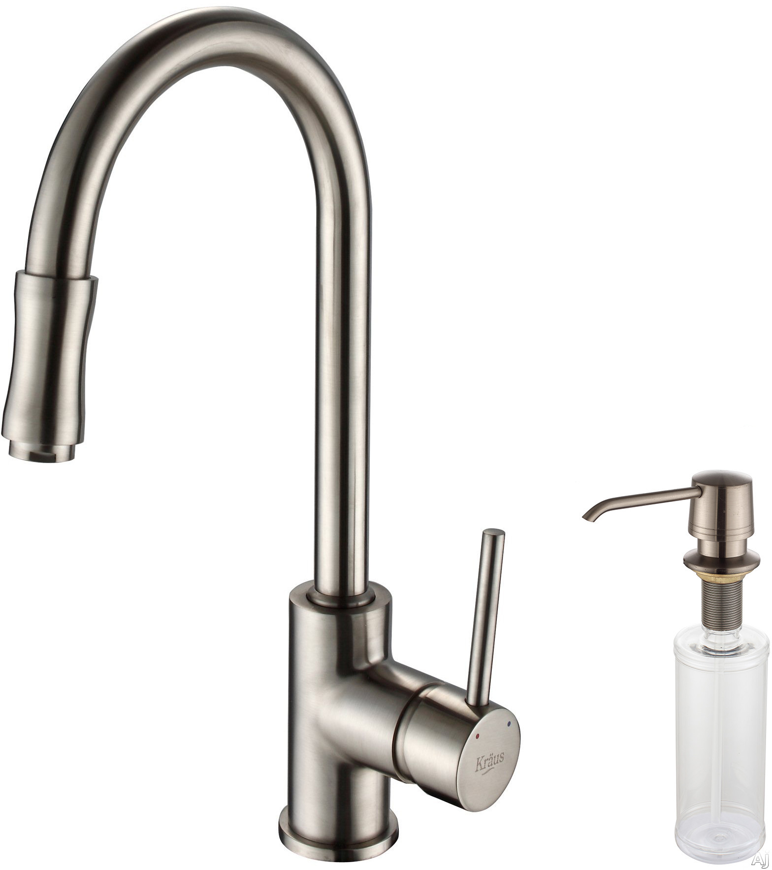 Kraus Kpf1622ksd30sn Single Lever Pull Out Kitchen Faucet With Hi Arc Pull Down Spray Head 2 2
