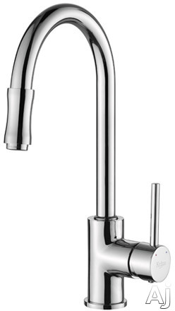 Krause Single Lever Pull Out Kitchen Faucet Satin Nickel