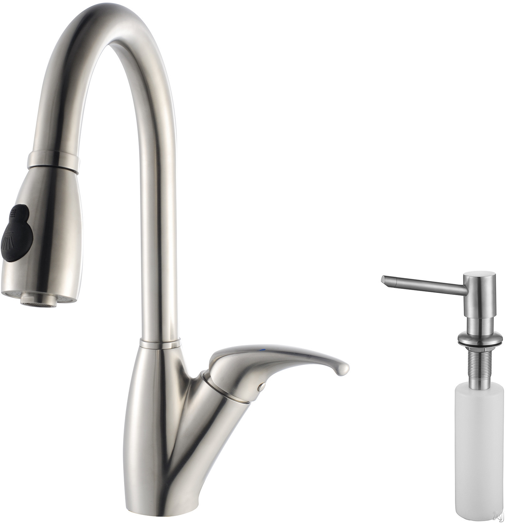 Kraus Kpf2120sd20 Single Lever Pull Out Faucet With 9 Spout Reach 24 Spring Tensioned