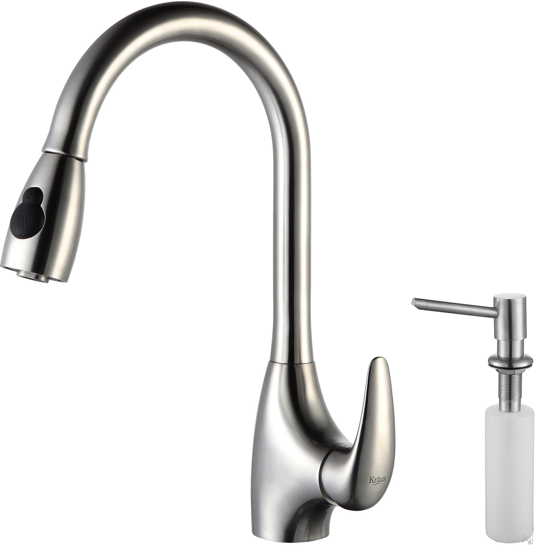 Kraus Kpf2170sd20 Single Lever Pull Out Kitchen Faucet With Hi Arc Dual Stainless Steel Pull