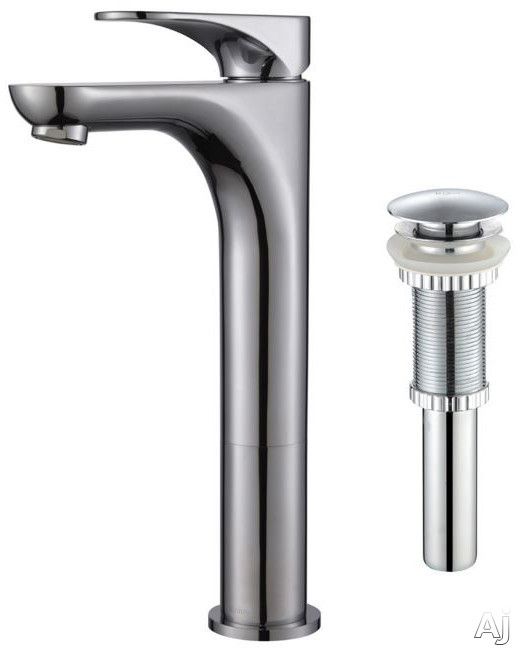 Kraus Aquila Series FVS13900PU10CH Single Handle Bathroom Faucet with 5 Inch Reach All Metal Construction and Rust Resistant Finish Chrome