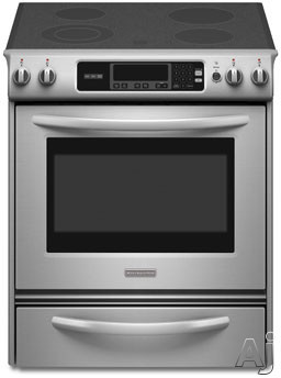 "KitchenAid Architect Series II KESK901SSS 30"" Slide-In Electric Range with 4 Radiant Elements, Low, U.S. & Canada KESK901SSS"