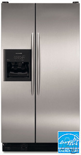 KitchenAid Architect Series KSRP25FSSS 25 Cu Ft Superba Side-by-Side Refrigerator With In-Door Ice Dispensing System & Wine Rack Stainless Steel
