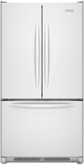 Bottom Mount Refrigerators Kitchenaid Architect Series Ii Kbfs20evwh 19 7 Cu Ft Counter