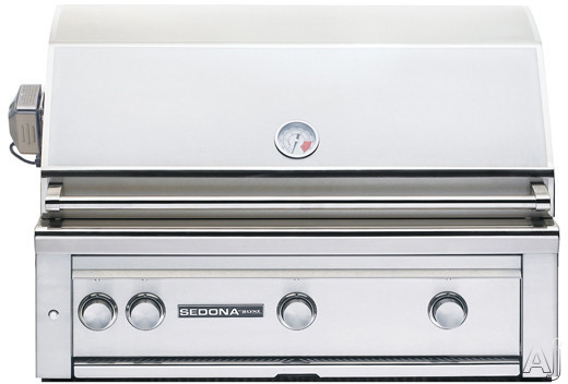 Lynx Sedona Series L600PSLP 36 Inch Built-in Gas Grill with ProSear Burner, Temperature Gauge, LED Control Light, 891 sq. in. Cooking Surface, 69,000 Total BTUs and 2 Stainless Steel Tube Burners: Liq