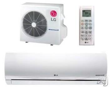 LG Art Cool Premier LA150HYV2 15,000 BTU Single Zone Mini-Split System with 21,000 BTU Heating Capacity, 13.48 EER, 24 SEER, 741 CFM, Low Ambient Operation, Inverter Technology, Sleep Mode, 24 Hr. Timer and Defrost Control (LAN150HYV2 Indoor Unit / LAU150HYV2 Outdoor Unit)