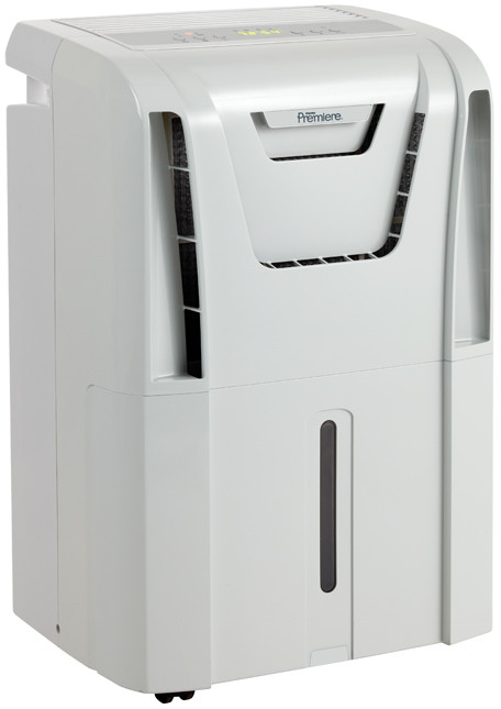 Danby Premiere Series DDR60A3GP 60 Pint Capacity Low Temperature Dehumidifier with R410A Refrigerant 2 Fan Speeds Auto Restart Auto De Icer Electronic Controls ENERGY STAR and Remote Control
