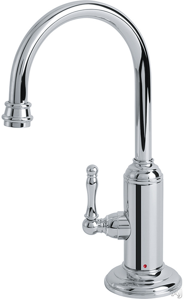 Image of Franke Farmhouse Series LB12100 Little Butler® Hot Water Filtered Faucet with Durable Brass Construction, Spout Swivels 360° and Low Lead Compliant: Polished Chrome