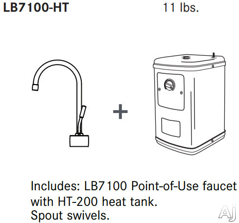 Franke Lb7100ht Instant Hot Water Dispenser With Ht200