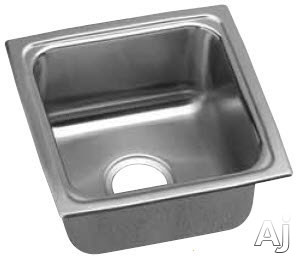 Elkay Gourmet Collection LFRAD1515 15 Inch Drop-In Kitchen Sink with 5 1/2 Inch Bowl Depth, 18-Gauge Stainless Steel Construction, Lustrous Highlighted Satin Finish, ADA Compliant and Made in the USA