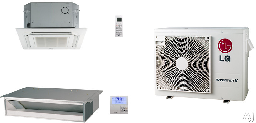 LG LG18KB9 2 Room Mini Split Air Conditioning System with Heat Pump, Low Ambient Operation, R-410A Refrigerant, Auto Restart and Auto Operation LG18KB9