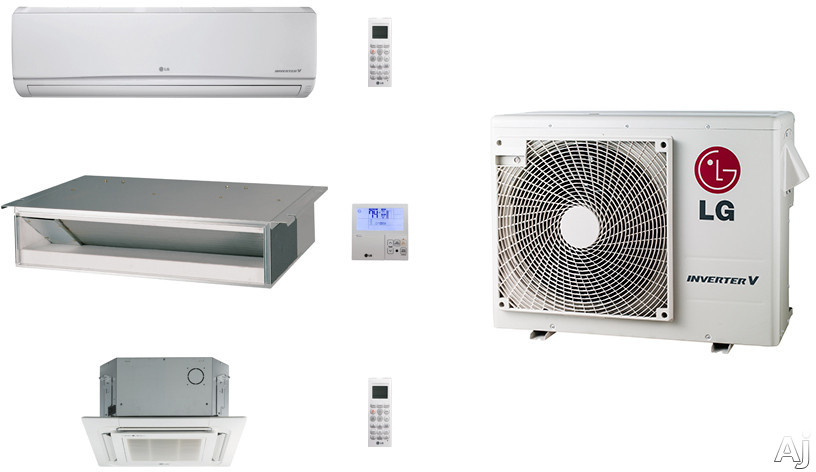Picture of LG LG24KB35 3 Room Mini Split Air Conditioning System with Heat Pump Low Ambient Operation R-410A Refrigerant Auto Restart and Auto Operation