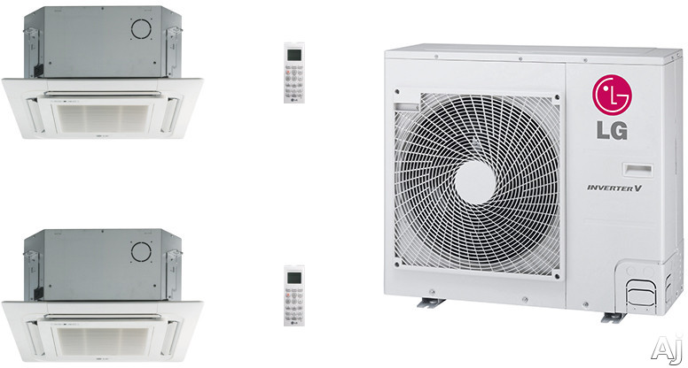 LG LG36KB5 2 Room Mini Split Air Conditioning System with Heat Pump, Low Ambient Operation, R-410A Refrigerant, Auto Restart and Auto Operation LG36KB5