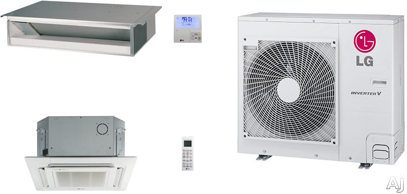 LG LG36KB17 2 Room Mini Split Air Conditioning System with Heat Pump, Low Ambient Operation, R-410A Refrigerant, Auto Restart and Auto Operation LG36KB17