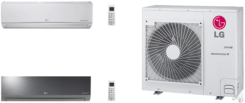 LG Art Cool Mirror LGACMS36KB27 2 Room Mini Split System with Heat Pump, Low Ambient Operation, R-410A Refrigerant, Auto Restart and Auto Operation LGACMS36KB27