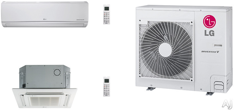 LG LG36KB26 2 Room Mini Split Air Conditioning System with Heat Pump, Low Ambient Operation, R-410A Refrigerant, Auto Restart and Auto Operation LG36KB26