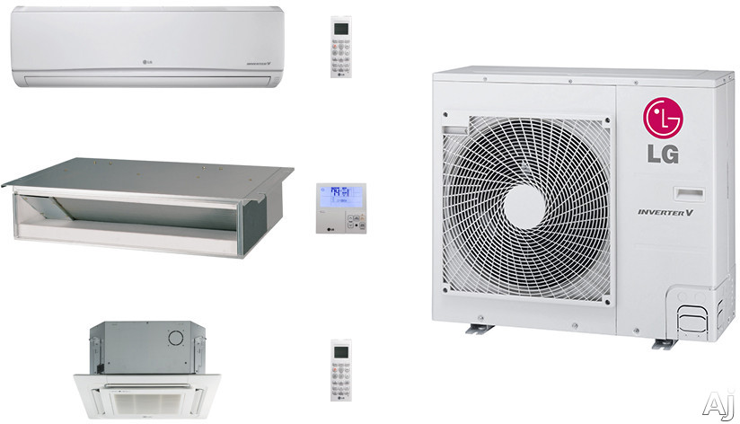 LG LG36KB16 3 Room Mini Split Air Conditioning System with Heat Pump, Low Ambient Operation, R-410A Refrigerant, Auto Restart and Auto Operation LG36KB16