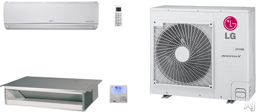 LG LG36KB102 2 Room Mini Split Air Conditioning System with Heat Pump, Low Ambient Operation, R-410A Refrigerant, Auto Restart and Auto Operation LG36KB102