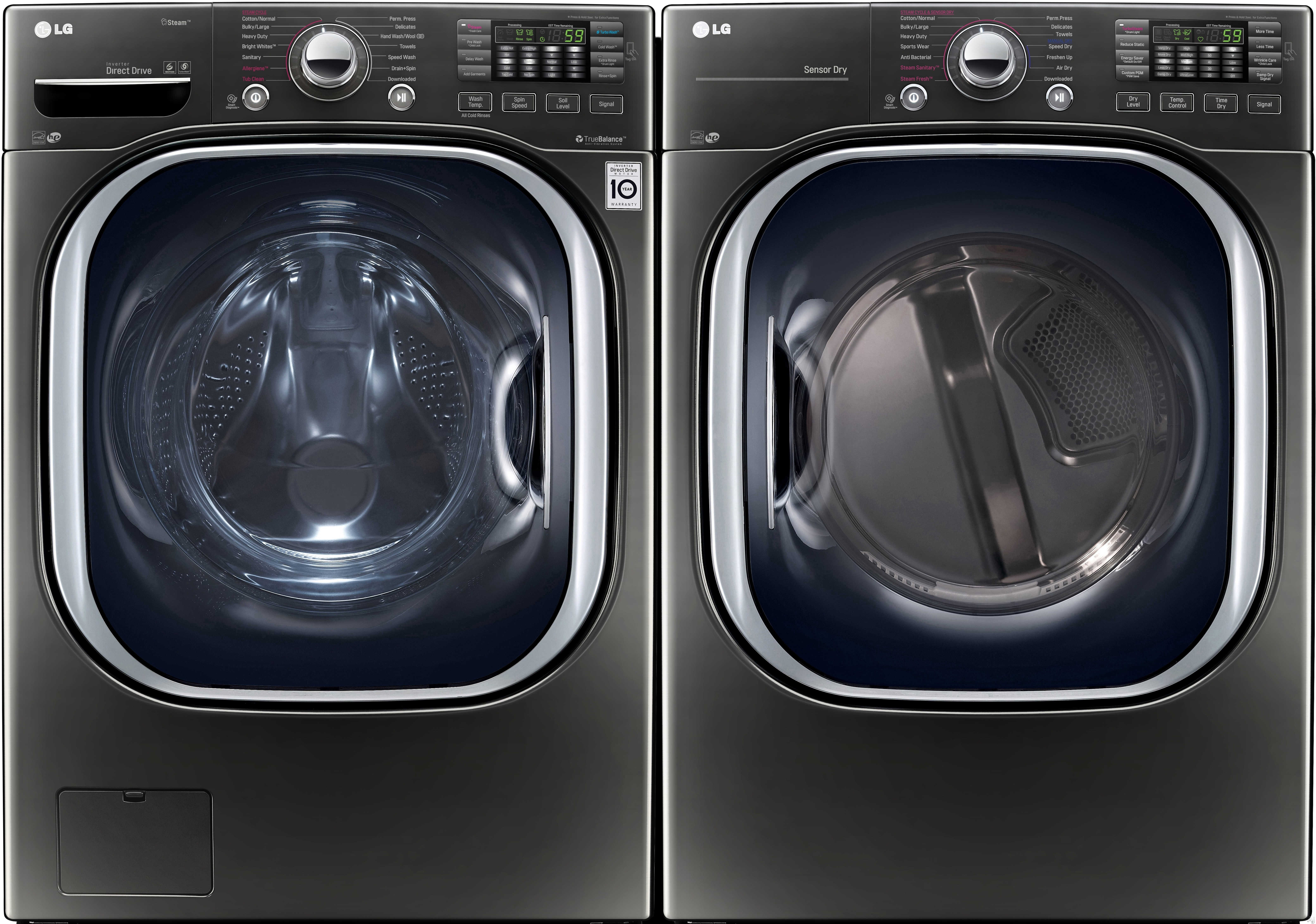 Lg Lg4370fl Lg 4370 Series Front Load Washer Dryer Pair