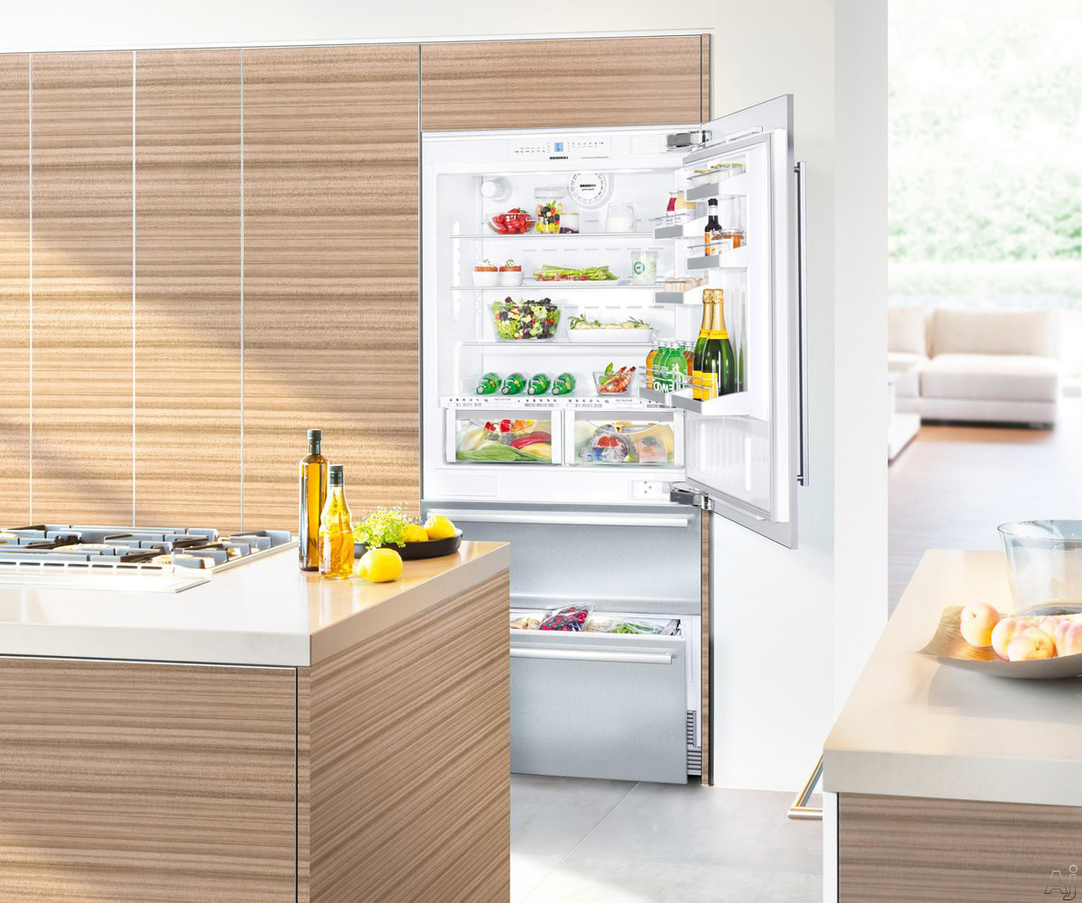Liebherr Premium Plus Series HCB2060 36 Inch Fully Integrated Bottom-Freezer Refrigerator with 18.8 cu. ft. Capacity, Adjustable Glass Shelves, BioFresh Drawers, Water and Air Filtration, Sabbath Mode, Star-K Certified, Energy Star Rated and Requires Doo