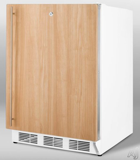 Summit ALFB621LIF 24 Inch Undercounter Freezer with 3 Removable Storage Baskets Manual Defrost  25C Capable Door Lock and ADA Compliant Integrated Frame Requires Panel Handle