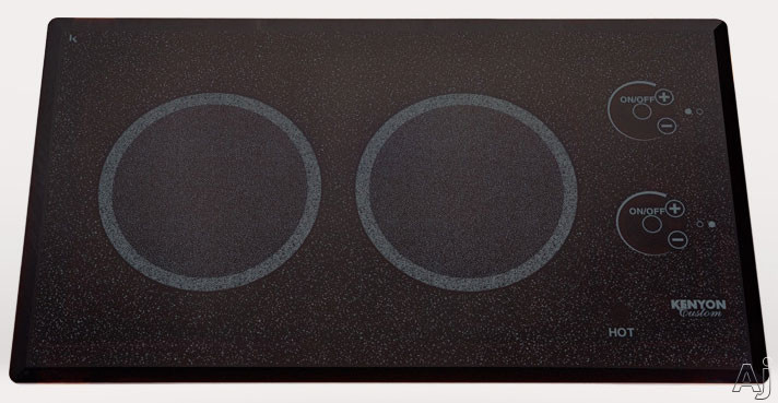Kenyon Lite-Touch Series B41576L 21 Inch Electric Cooktop with 2x1,200 Watt Burners, Ceramic Glass Surface,