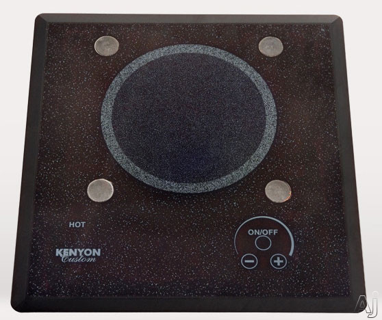 Kenyon Lite-Touch Series B40571PUPS 12 Inch Electric Cooktop with 1x1,200 Watt Burner, Black Ceramic Glass Surface, Pop Up Potholder System, Hot Surface Indicator Light and Digital Touch Controls: 120